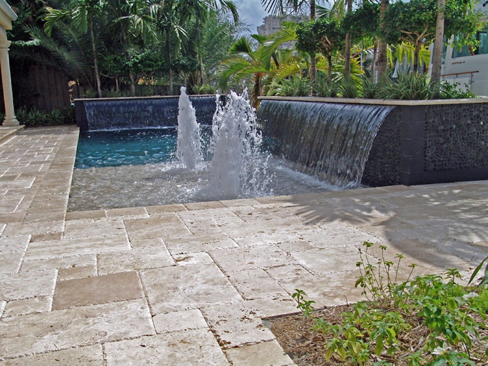 Rectangle Pool With Water Feature rectangle | pool types | signature pools & spas inc