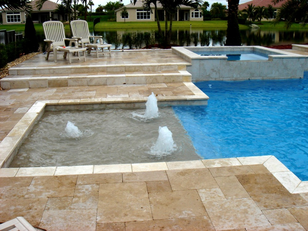 Sunbench pool types signature pools spas inc for Different types of pools